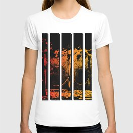 Fence in Sunset Tones Digital Art T-shirt