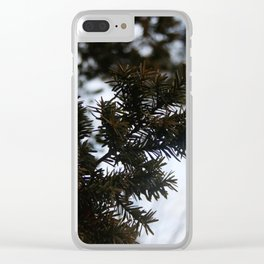 pine trees. Clear iPhone Case