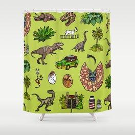 Jurassic pattern lighter Shower Curtain
