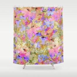 Fancy Field Flowers Shower Curtain
