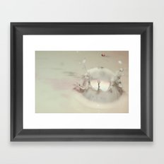 Milk Drop Framed Art Print