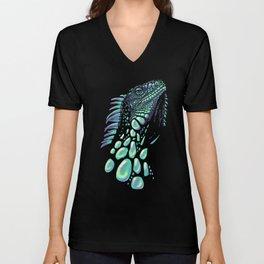 Iguana black Unisex V-Neck