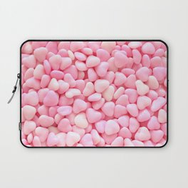 Pink Candy Hearts Laptop Sleeve