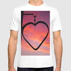 Love Sunset Mens Fitted Tee MEDIUM White