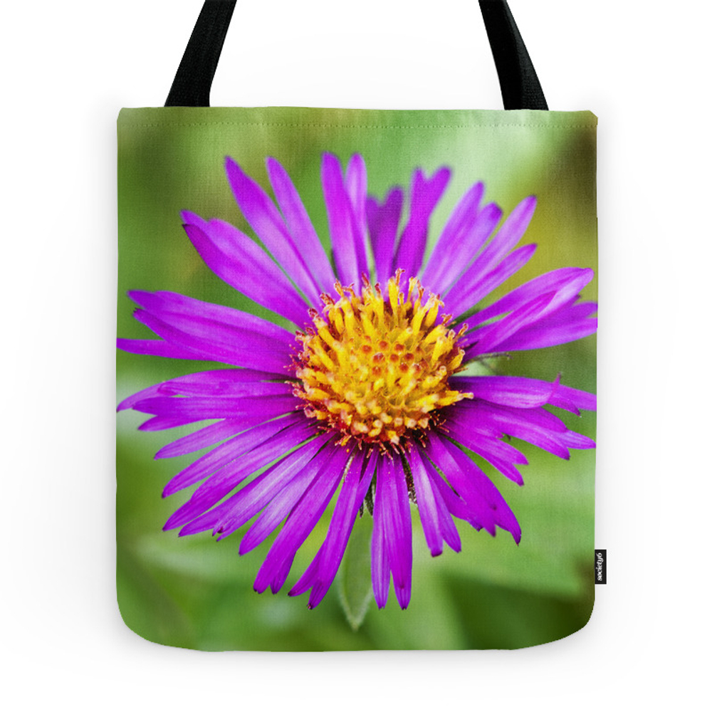 September Ruby New England Aster 2 Tote Purse by floatingpetals (TBG7634912) photo