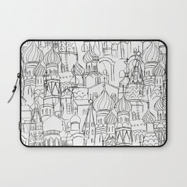 Russian cathedral church line drawing Laptop Sleeve