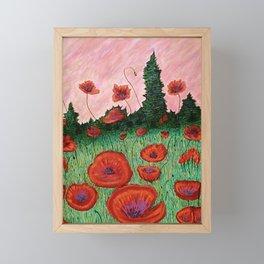 Fields of Red Framed Mini Art Print