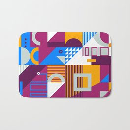 Modern Geometry Pattern Bath Mat