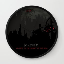 Alternate 'The Matrix' Movie Poster Art Wall Clock
