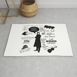 Sherlock Holmes Quotes Rug