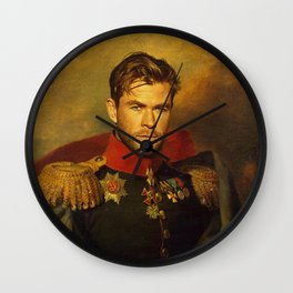 Chris Hemsworth - replaceface Wall Clock