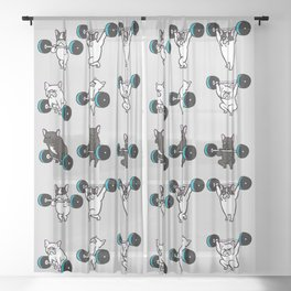 OLYMPIC LIFTING FRENCHIE Sheer Curtain