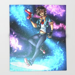 Space Danny Throw Blanket