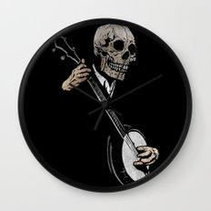 Skullboys' Banjo Blues Wall Clock