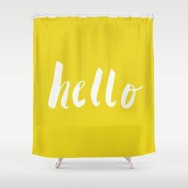 Hello x Sunshine Script Shower Curtain