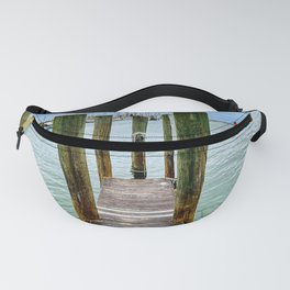Weathered Dock at Fort Myers Beach, FL Fanny Pack