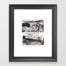 failing time Framed Art Print