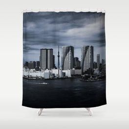 Turbulent Tokyo Shower Curtain