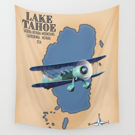 Lake Tahoe Sierra Nevada California Nevada USA Wall Tapestry
