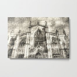 St Giles Cathedral Edinburgh Vintage Metal Print