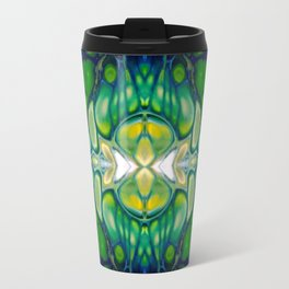 Bright Green Abstract Design Art Travel Mug