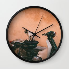 Cat in Marrakech Wall Clock