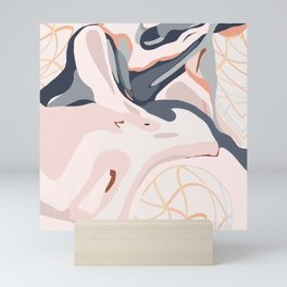 Elegant Zen Marbled Effect Design Mini Art Print