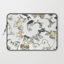 Dog Swirl World Laptop Sleeve