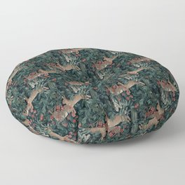 Bunny medieval tapestry Floor Pillow