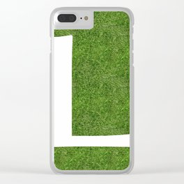 L initial letter alphabet on the grass Clear iPhone Case