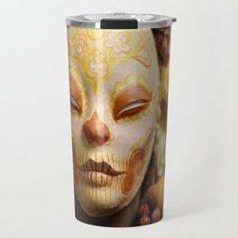 Golden Harvest Muertita Detail Travel Mug