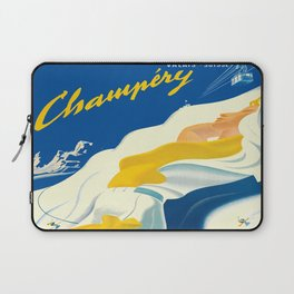 Vintage Champery Switzerland Travel Laptop Sleeve