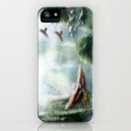 Flight through the Mountains iPhone Case