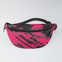 Hot pink and black digital art G75 Fanny Pack