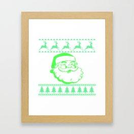 Santa Face Ugly Sweater Framed Art Print