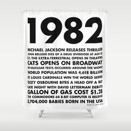 1982 Shower Curtain