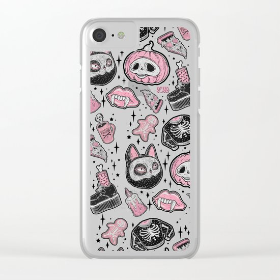 SPOOKS or CREEPS ? Clear iPhone Case