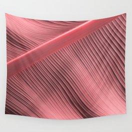 """Pastel Pink Big Leaf"" Wall Tapestry"