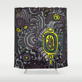 BELLY FIRE Shower Curtain