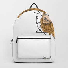 Lion Horn Unicorn Gold Hair Backpack