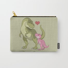 DaddySaurus T-Rex Father & Baby Girl Dinosaurs Carry-All Pouch