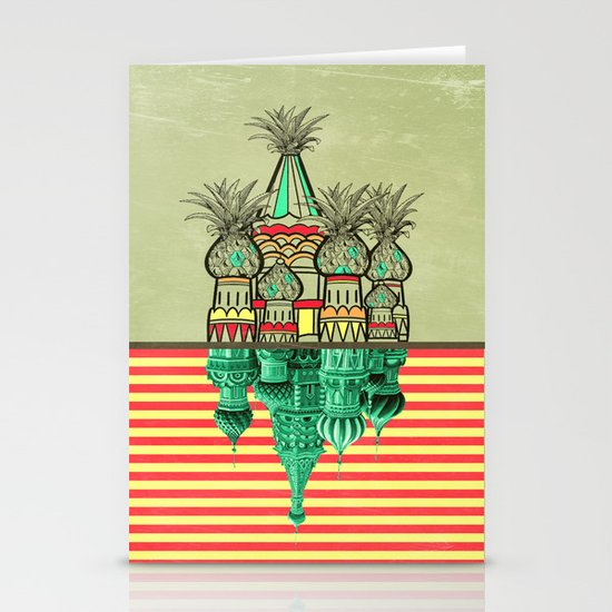 Pineapple architecture  Stationery Cards
