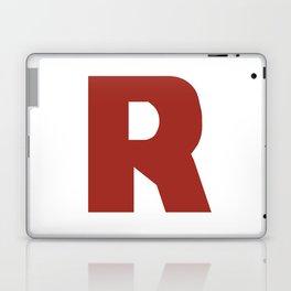 Letter R on White Laptop & iPad Skin