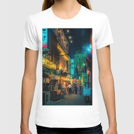 Alley - Tokyo Japan Night Photography T-shirt