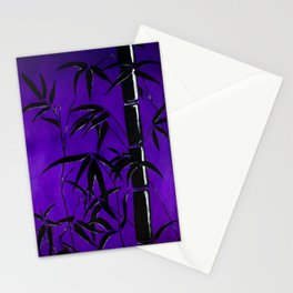 Purple Graphic Bamboo Silhouette Stationery Cards