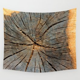 Cross-section Pine Tree Trunk Organic Wood Texture Wall Tapestry