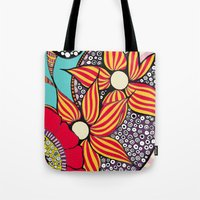 hamsa Tote Bags featuring Hamsa by Sophia Skipka