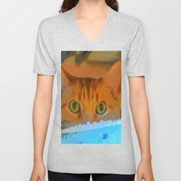 Sir Watson Tabby Digital Cat Unisex V-Neck