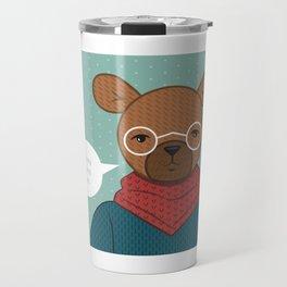 """""""Honey is my Jam"""" Hipster Bear Travel Mug"""