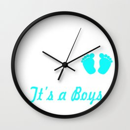 Promoted to Daddy EST. 2018 it's a Boy Wall Clock